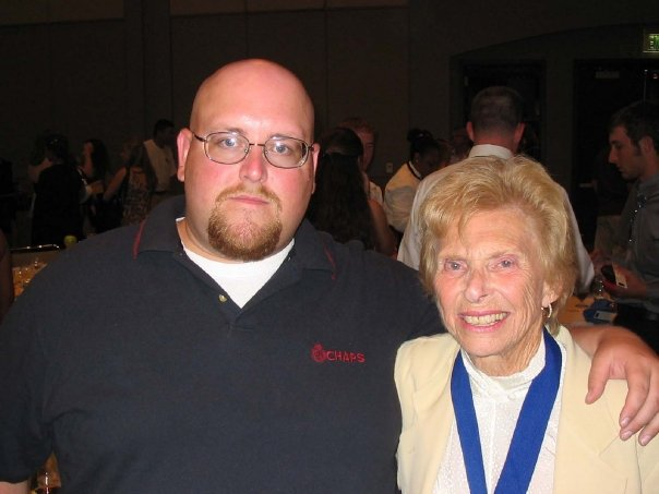 Chad Affrunti with Dr. Helen Bolnick, 2008